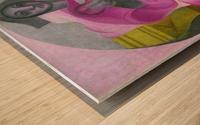 Sitting Harlequan by Juan Gris Wood print