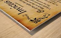 2-Invictus Poem Wood print