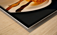 Coffee Pour  Wood print