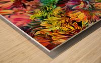 Rainbow Floral Wood print