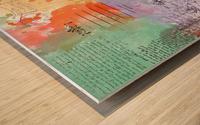 Scrapbook paris vintage france Wood print