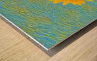 Sunflower. Wood print