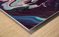 color acrylic paint art painting     Wood print