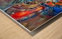 Space Magic Wood print