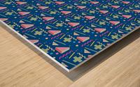 memphis pattern Wood print