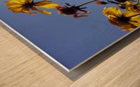 Summer Sky Flowers 1 Wood print