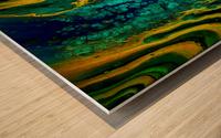 Earth Frequencies Wood print