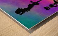 Silhouette 1 Wood print