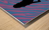 Silhouette 3 Wood print