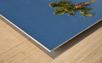 Idyllic Palm trees Wood print