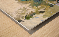 Suburban Springtime Wood print