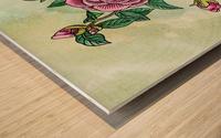 Botanical Watercolor Japanese Camellia Flower  Wood print