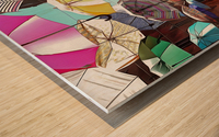 Festa Umbrellas Paciano With Shadows Wood print