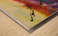 La lumière Wood print