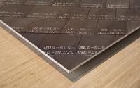Space Shuttle Tiles Wood print