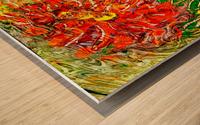 orange flower energy abstraction Wood print