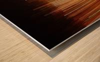 Blurred City Wood print