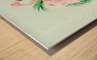 Tropical Ice Cream Wood print