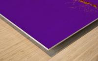 Lake Sunset - Purple Wood print
