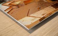 French Village Bistro Wood print