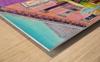 MONTREAL SUMMER PAINTING CHEZ JOSE PLATEAU CAFE SCENE Wood print