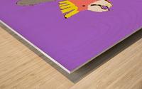 Happy Galah - Purple Wood print