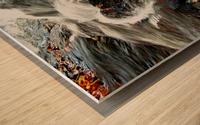 Rushing Stream Wood print