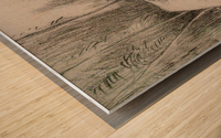 The Charcoal Burner's Hut Wood print