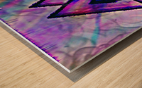 Valknut Colorful Wood print