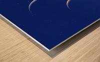 Three Planets Rise Wood print