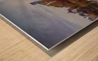 Central park lake panorama Wood print