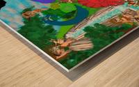 Dino Land Printed Mural Wood print