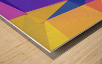 abstract colorful geometric shapes Wood print