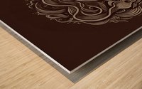 Lunar New Year Sepia Wood print