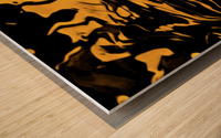 Richer fusion - gold and black gradient abstract wall art Wood print