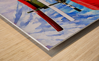 Japanese Sword Display Wood print