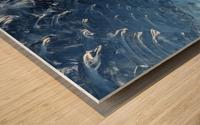 Glacier ICE formation  Wood print