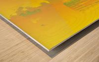 Abstract Building Minneapolis Skyline Wood print