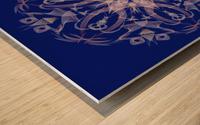 Limited Edition - Blue Graphic Art Healing Mandala 1005 Wood print