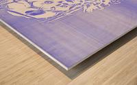 Jacle blue print Wood print