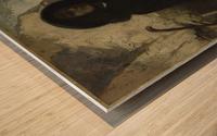 Autoportrait dit Courbet au chien noir Impression sur bois