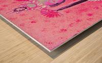 RÚ--in Hot Pink Wood print