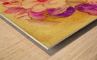 Floral pansies Wood print