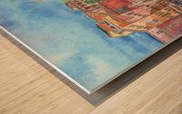 Venice Canal And Gondolier Italian City Landscape  Wood print