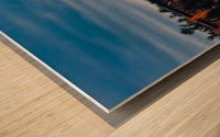 Lheure bleue Wood print