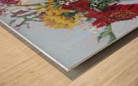Flowers in a Mason Jar Wood print
