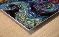 Castle Starry Night print van Gogh parody Wood print