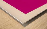 Solid Magenta Process color Wood print