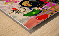 Millionaire Huracan EVO Wood print
