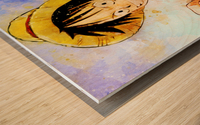 Luffy Wood print